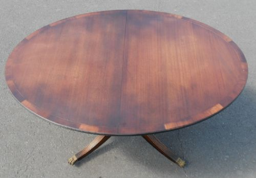 Oval Mahogany Pedestal Extending Dining Table